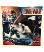 Jigsaw Puzzle Marvel Captain America Civil War Super 3D 150 Piece 18 x 12  - $14.84
