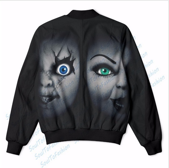 Seed of Chucky 3D Sublimation Print Men Women Zipper Up Jacket coat outerwear p