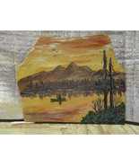 Late Autumn; Man in Canoe on the Lake - $34.95