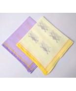 "Set of 2 Cotton Handkerchief Hanky Hankie Napkin Square Women Plain 12"" N54 - $5.93"