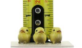 Hagen Renaker Miniature Bird Tweety Baby Chicks Yellow Set of 3 Figurines image 9