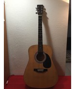 Burswood Acoustic Guitar ESTEBAN Right Handed- 6 String W/Case - $50.00
