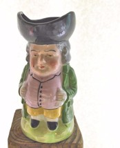 "Vintage Toby Pitcher Man Colonial Costume 5.5"" Japan Hand Painted - $19.00"