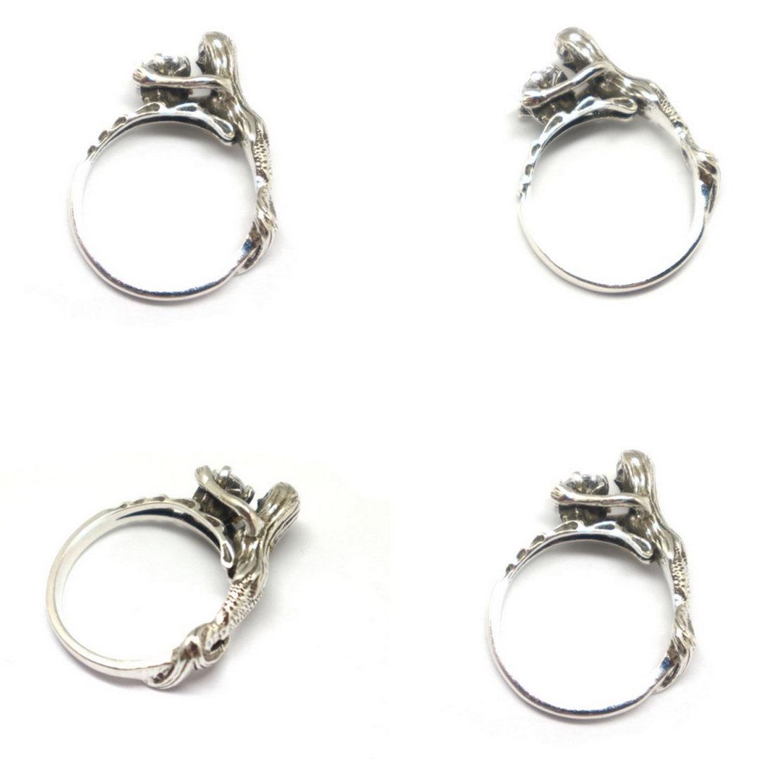 Sterling Silver Mermaid Ring image 4