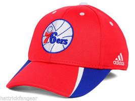 Philadelphia 76ers Adidas NBA Fastbreak Team Basketball Cap Hat L/XL - $20.85
