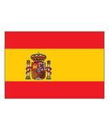Spain Flag vinyl sticker decal 12x8cm car window self cling bumper Espagne - $2.91+