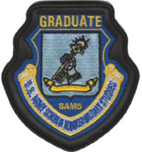 """US Air Force SAMS Graduate Leather Edge Full Color 4"""" Tall Patch - Hook and Loop - $13.85"""