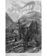 TENNESSEE Mountain Range Cumberland Gap - 1883 German Print - $16.20