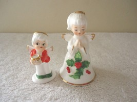 Vintage Lot Of 2 Ceramic Angels,1,Miniature,1,Napcoware Bone China Xmas ... - $23.36