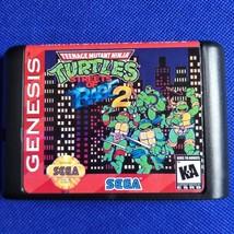 TMNT in Streets of Rage 2 16 bit MD Game Card For Sega Mega Drive For Genesis - $13.98