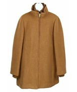 J Crew Womens Lodge Coat Italian Stadium-Cloth Wool Coat Heather Acorn 1... - $183.99