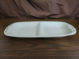 Longaberger Pottery Woven Traditions Oblong DIVIDED SERVING TRAY Heritag... - $29.95