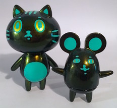 Baketan Green Shimmer Cat and Mouse Set RARE and LIMITED Set image 2