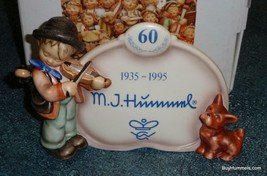 Puppy Love Goebel Hummel Display Plaque #767 TMK7 60 Year Anniversary W/... - $174.59
