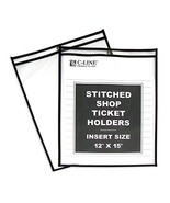 C-Line Stitched Shop Ticket Holders, Both Sides Clear, 12 x 15 Inches, 2... - $40.82