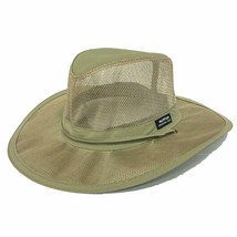 """Panama Jack Men's Mesh Safari Hat with 3"""" Brim, Mesh Sidewall for Ventil... - $45.67+"""