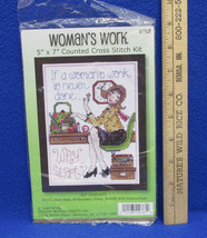 Womens Work Is Never Done Why Start Counted Cross Stitch Craft Kit # 9787 - $16.82