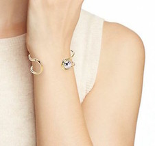 Marc Jacobs Bracelet Safety Pin Cuff Oro Argento NEW - $57.42