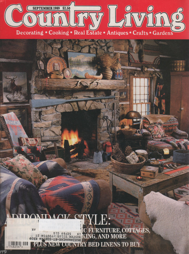 Primary image for Country Living Magazine SEPTEMBER 1989 Decor-Crafts-Cooking-Real Estate-Antiques