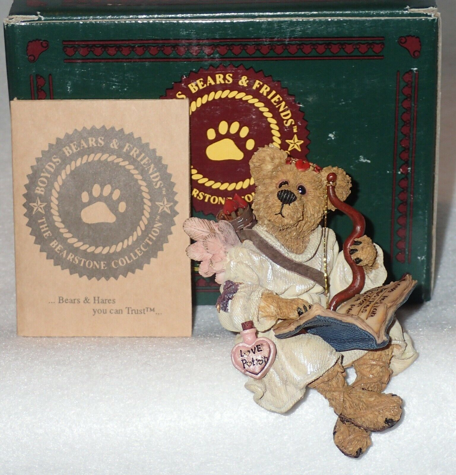 Boyd Bearstone Resin Bears Archer Straight Shot Figurine #227726 NEW IN BOX image 3