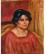 Gabrielle in a Red Blouse, 1910 - 24x32 inch Canvas Wall Art Home Decor - $51.99