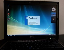 Dell Laptop Core 2 Duo Windows VISTA 1.8Ghz 80GB DVD Wifi Serial Port MS... - $113.80