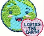 Cub Girl Boy LOVING THE EARTH Embroidered Iron-On Fun Patch Crests Badge Scout G