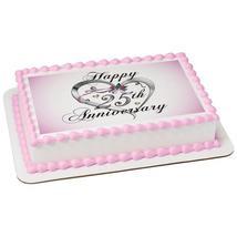 25th Anniversary Edible Cake Topper Image - $9.99+