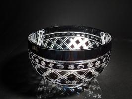 ajka black crystal  bowl - $395.00