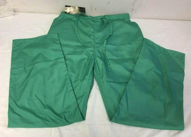 8a3481ea1ca Natural Uniforms Medical Hospital Nursing Scrub Pants Surgical Green Small  - $12.65