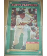 Boston Red Sox Scott Fletcher Laying Down a Bunt 1993 Poster - $2.99