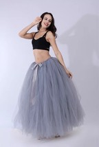 Adult Tutu Maxi Skirt Drawstring High Waist Party Tutu Tulle Skirt Petticoats  image 14