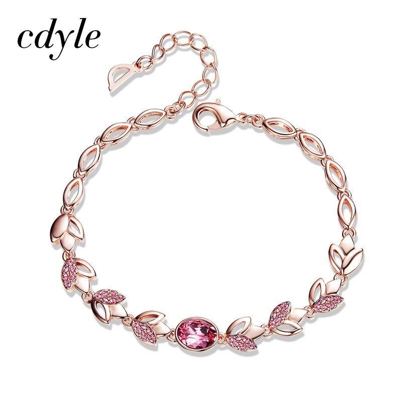 gold bracelets crystals from swarovski bangle for women fashion jewelry elegant 2018 set flower