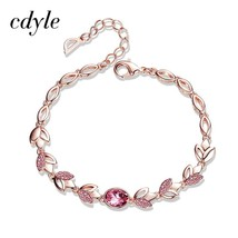 Cdyle Rose Gold Bracelets Crystals from Swarovski Bangle for Women Fashi... - $20.69