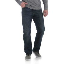 NEW MENS WRANGLER RELAXED SEAT AND THIGH BLUE JEANS FLEX COMFORT 48 X 30... - $22.22
