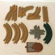 GeoTrax Lot of Brown Gray Road Rail Tracks Curved Straight Switch Fisher... - $14.99