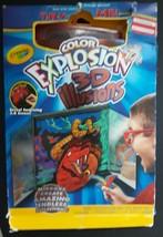 Crayola Color Explosion 3D Illusions 18 Page Color Exlosion Tablet Mirro... - $5.89