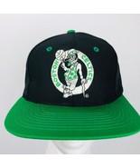 Vintage Boston Celtics 90s NBA The Gap Cap Snapback Black Green Trucker Hat - $29.69