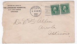 THE LAKESIDE HOSPITAL CHICAGO, ILL JUNE 3 1913 - $1.98