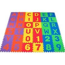 Non-Toxic 36 Piece ABC Foam Mat - Alphabet & Number Puzzle Play & Floori... - $49.30