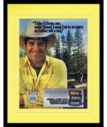 1987 Skoal Long Cut Tobacco Framed 11x14 ORIGINAL Vintage Advertisement - $32.36