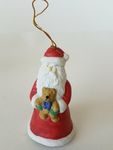 Santa Claus With Teddy Bear Boots Clapper Christmas Tree Hanging Ornament - $12.60