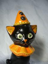 Vaillancourt Folk Art Halloween Black Cat with a Hat Signed by Judi Vaillancourt image 4
