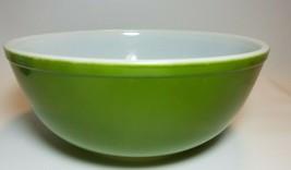 Vintage Pyrex Verde Green 404 4-Quart Mixing Nesting Bowl Ovenware - $19.75