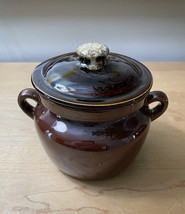 Vintage McCoy 9189 Pot with lid and handles image 1