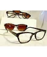 2 Pair +1.50 Foster Grant Reading Glasses with free Magnetic Sunglasses ... - $15.51