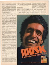 1975 Musk Sensual Cologne from Old Spice Advertisement - $16.00