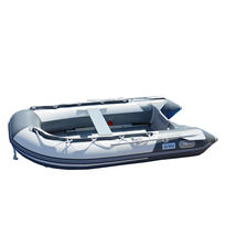 BRIS 8.2 ft Inflatable Boat Inflatable Pontoon Dinghy Raft Tender Canopy image 7