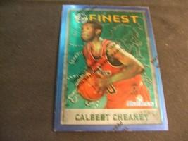 1995-96 Topps Finest w/peel #77 Calbert Cheaney -Washington Bullets- - $3.12
