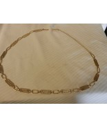 Vintage Polished Gold Tone Women's Costume Jewelry Belt Rectangles & Ovals - $51.98